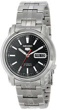 Seiko 5 SNKL83 Men's Stainless Steel Black Dial Day Date Automatic Watch