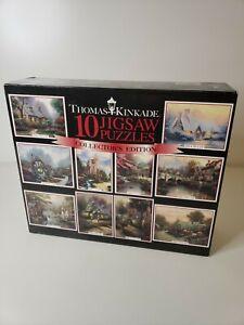 Thomas Kinkade 10 Jigsaw Puzzles Collector's Edition 100, 300 & 500 pcs. [New]
