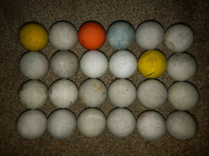 24 lacrosse balls used in NCAA Div 1 competition/training