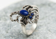 SIZE N 1/2 54mm  GENUINE SOLID 925 STERLING SILVER Scorpion ring imitation lapis