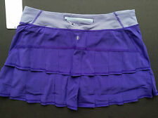 NWT Lululemon PACE SETTER TALL Skirt BRUISED BERRY Purple Stripe (Size 10 TALL)
