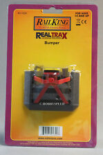 MTH REAL TRAX LIGHTED TRACK BUMPER O GAUGE siding illuminated end 40-1024 NEW