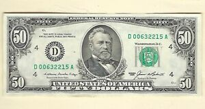 Series 1985 $50 Fifty Dollars Uncirculated Currency FRN Paper Money Fr#2122