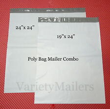"8 Poly Bag Extra Large Envelope Mailer Combo  24""x 24"" & 19""x 24""  Self-Sealing"