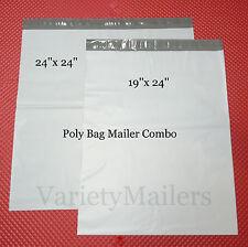 "8 POLY BAG EXTRA LARGE MAILING ENVELOPE COMBO  24""X24"" & 19""x24""  SELF-SEALING"