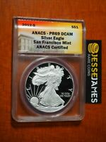 2012 S PROOF SILVER EAGLE ANACS PR69 DCAM