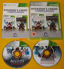 ASSASSIN'S CREED COMPILATION  XBOX 360 Vers Inglese Gioco in Italiano • COMPLETO