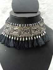 Mugal beautiful Necklace without Earrings Indian Bollywood Style Silver Oxidized