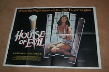 THE HOUSE ON SORORITY ROW aka HOUSE OF EVIL (1982) - V. RARE ORIG UK QUAD POSTER