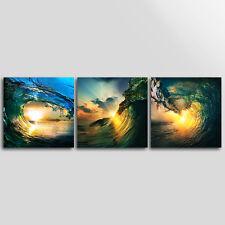 No Frame Home Decor Canvas 3 Panels Wall Art Canvas Prints Sea Wave Seascape