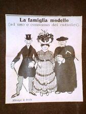 Vignetta d'Epoca Chiesa e scandali sessuali dei Preti La Famiglia Modello