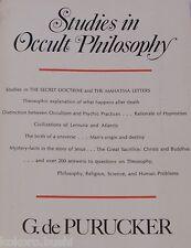 Studies in Occult Philosophy by G. de Purucker 1973 - rare book! NICE!
