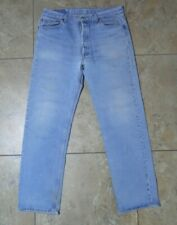 VTG Levi's 501 Button Fly Light Wash blue JEANS USA Made 36x32 Measured 34x31