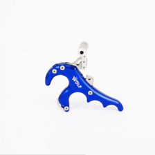 Hunting Archery Arrow 4 Finger Grip Caliper Release Aids for Compound Bow Blue