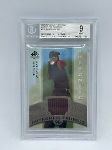 2005 Tiger Woods SP Signature Golf Authentic Fabric Jersey BGS 9