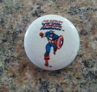 Vintage 1976 Marvel Comics Captain America *Original* Button Pin Pinback