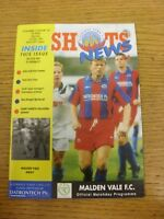 11/12/1993 Aldershot Town v Malden Vale [FA Vase] . Thanks for viewing our item,