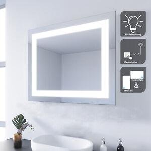 Badspiegel LED 60x50 Lichtspiegel Badezimmerspiegel mit LED Beleuchtung Kaltweiß