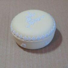 Wedgwood Jasperware Yellow Prunus Small Round Box