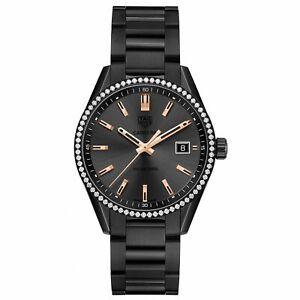 Tag Heuer Women's WAR1115.BA0602 Carrera Diamond Black Titanium Watch