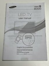 Samsung Series 8 8000  3D LED 2011 HDTV Television Users Manual