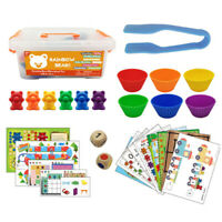 Children Toy 1 set Boxed Counting Bear Montessori Educational Cognition Rai U4N8