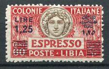 LIBIA 1933 ESPRESSO LIRE 1,25 DENTELLATURA 11 MNH**  SASSONE 12