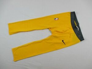 Nike 3/4 Compression Pants Men's Yellow Poly NEW Multiple Sizes
