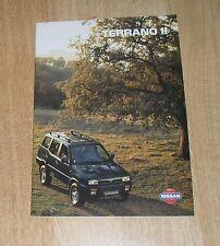 Nissan Terrano 2 Brochure 1995 LX SLX SE 2.7 TD 2.4