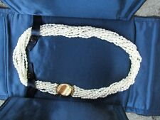 100% Genuine Tiffany & Co 10 strands pearl necklace - 18k gold clasp