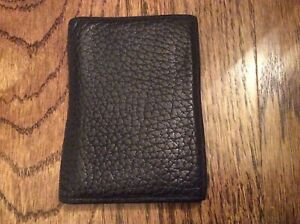 Dooney & Bourke Mens black Pebbled leather ID wallet organizer USA made Vintage