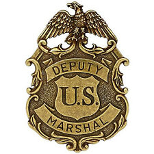 American Lawman Old West Era Deputy United States Marshal Gold Eagle Badge