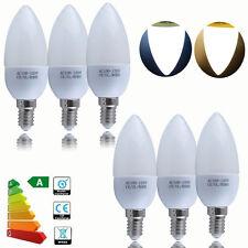 6/12X E27 E14 3W=35Watt LED SMD Candle Chandelier Bulb Lamp Light Day/Warm White
