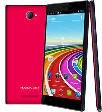 Maxwest Smartphone Gravity 6 Unlocked Quad Band Dual-SIM - Pink