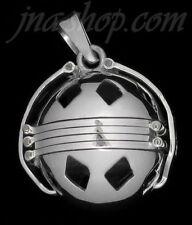 "Sterling Silver 6-Picture Photo Ball Diamond Cutouts Locket Pendant + 30"" Chain"
