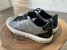 100% Authentic Louis Vuitton Monogram shoes Gray Sneakers 43 Size Used