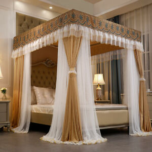 Luxury Mosquito net & Cloth top summer bed canopy with stainless steel frames