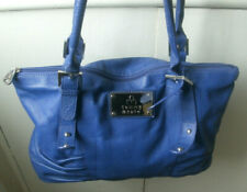 Tommy & Kate Limited Edition Blue Soft Faux Leather Shoulder Tote Bag
