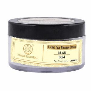 Khadi Herbal Face Gold Massage Cream 50gm