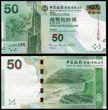 HONG KONG 50 DOLLARS (P342c) BANK OF CHINA 2013 UNC