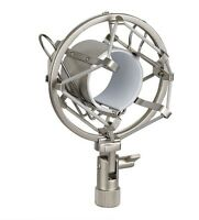 SILVER ANTI SHOCK MOUNT HEAVY DUTY METAL SHOCKMOUNT MIC MICROPHONE CRADLE