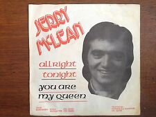 "Jerry McLean Allright alright tonight 7"" PS Rotterdam dutch private rock & roll"