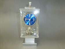 Vintage Lucite Anniversary Carriage Pendulum Shelf/Mantle German Clock Serviced