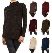 Markenlose Damen-Pullover & -Strickware aus Wolle ohne Verschluss