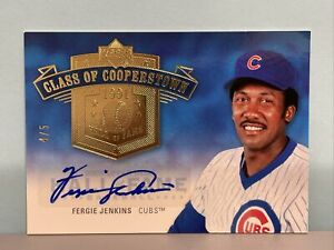 2005 UD Cooperstown Hall Of Fame HOF FERGIE JENKINS Autograph # 4/5