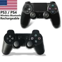 PS3 PS4 Wireless Bluetooth Gamepad Controller Rechargeable For Sony Double Shock
