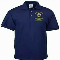 USS FORRESTAL CV-59 NAVY ANCHOR  EMBROIDERED LIGHT WEIGHT POLO SHIRT