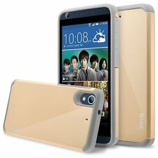 HTC Desire 626 Case, Hard Impact Dual Layer Shockproof Bumper Case - Gold
