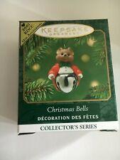 "2001 "" Christmas Bells ""Hallmark Ornament (Nib) Miniature"