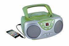 Sylvania SRCD243 Portable CD Player with AM/FM Radio, Boombox(Green) Green